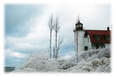 Point Betsie Lighthouse In Michigan Poster