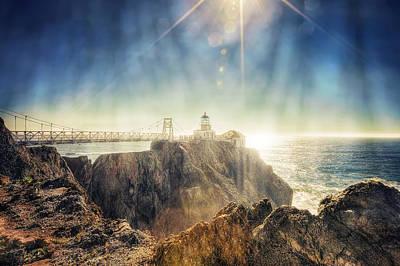 Point Bonita Lighthouse - Marin Headlands 3 Poster by Jennifer Rondinelli Reilly - Fine Art Photography