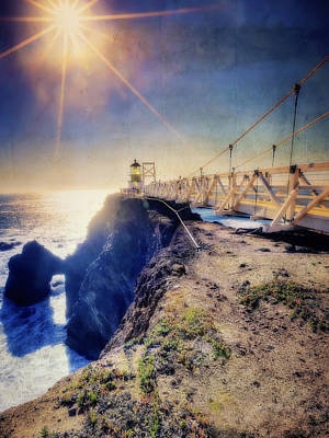 Point Bonita Lighthouse - Marin Headlands 7 Poster by Jennifer Rondinelli Reilly - Fine Art Photography