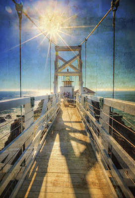 Point Bonita Lighthouse And Bridge 2 - Marin Headlands Poster by Jennifer Rondinelli Reilly - Fine Art Photography