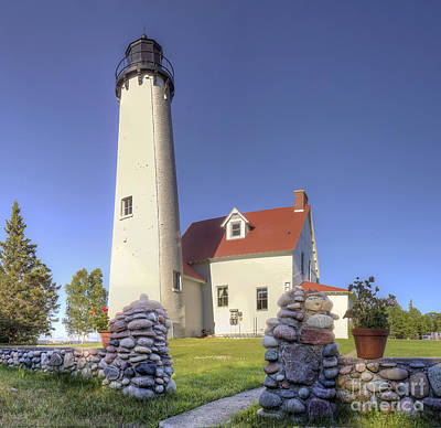 Point Iroquois Lighthouse Poster by Twenty Two North Photography