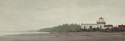 Poster featuring the painting Point No Point Lighthouse by Ron Crabb