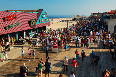 Point Pleasant Boardwalk Poster by James Kirkikis