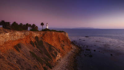 Point Vicente Lighthouse - Sunset Panorama - Rancho Palo Verdes Poster