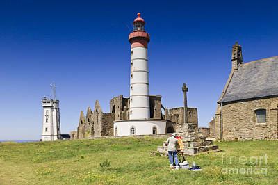 Pointe Saint Mathieu Brittany France Poster by Colin and Linda McKie