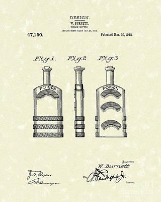 Poison Bottle 1915 Patent Art Poster by Prior Art Design