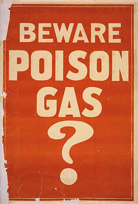 Poison Gas Poster, 1914 Poster