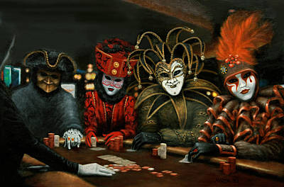 Poster featuring the painting Poker Face IIi by Jason Marsh