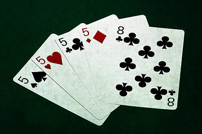 Poker Hands - Four Of A Kind 1 Poster