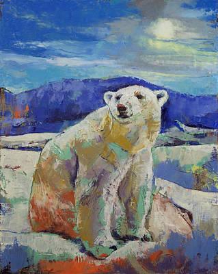 Polar Bear Sun Poster by Michael Creese