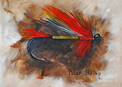 Poster featuring the painting Polar Shrimp Fishing Fly by Cynthia Lagoudakis