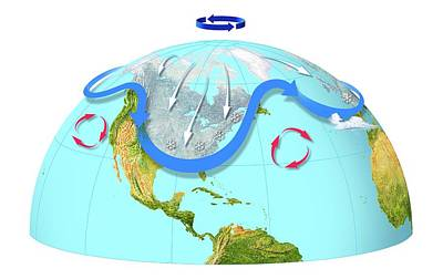 Polar Vortex And Jet Stream Poster by Gary Hincks