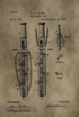 Police Baton Patent Poster by Dan Sproul