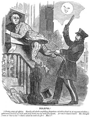 Police Cartoon, 1860 Poster by Granger