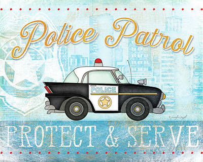 Police Poster by Jennifer Pugh