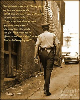 Police Poem Poster by John Malone