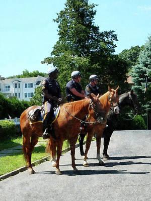 Policeman - Mounted Police Profile Poster by Susan Savad