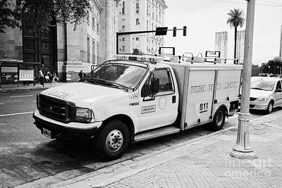 policia federal argentina bomberos federal police fire vehicle Buenos Aires Argentina Poster by Joe Fox