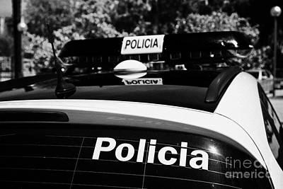 policia guardia urbana patrol cars Barcelona Catalonia Spain Poster by Joe Fox
