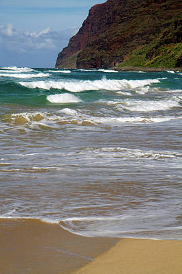 Polihale Beach And State Park Located Poster
