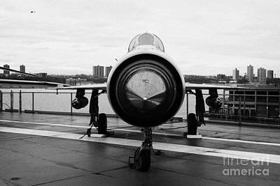 Polish Air Force Mig 21 Pfm On Display On The Flight Deck At The Intrepid Sea Air Space Museum Poster