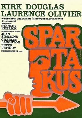 Polish Poster Spartacus Poster by Art Cinema Gallery