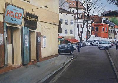Poster featuring the painting Polish Street by Cherise Foster