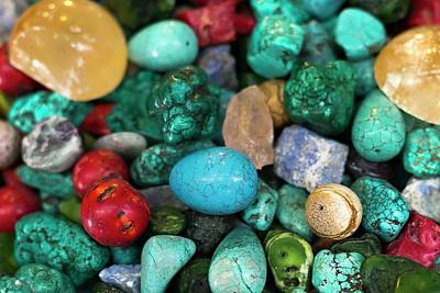 Polished Semi Precious Stones Poster by Photostock-israel