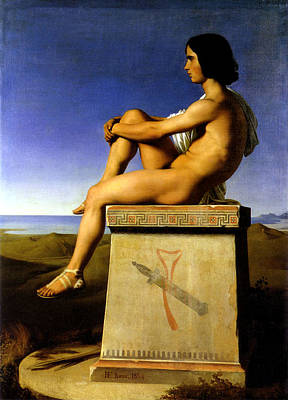 Polites Poster by Hippolyte Flandrin