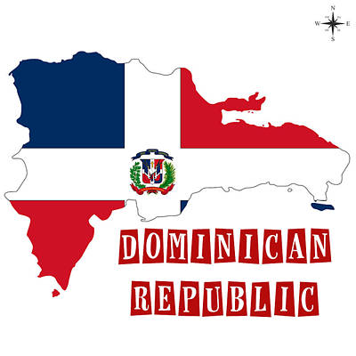 Political Map Of Dominican Republic Poster by Celestial Images