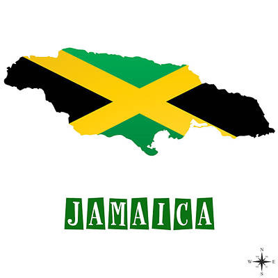 Political Map Of Jamaica Poster by Celestial Images