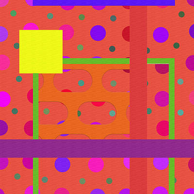 Polka Dot Abstract  Poster