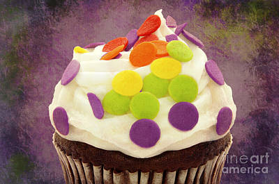 Polka Dot Cupcake 4 Texture Poster by Andee Design