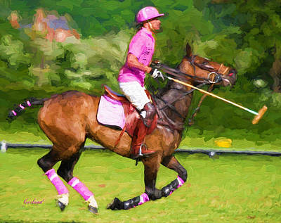 Polo In Pink Poster by Garland Johnson
