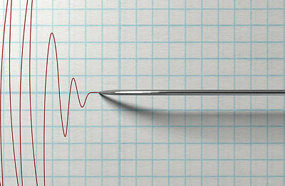 Polygraph Needle And Drawing Poster by Allan Swart