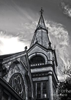 Pomona Seventh Day Adventist Church In Black And White Poster