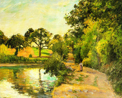 Pond At Montfoucault Poster by Camille Pissarro