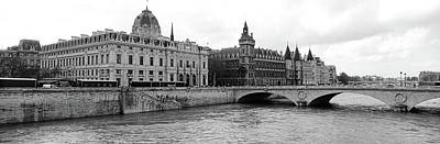 Pont Au Change Over Seine River, Palais Poster