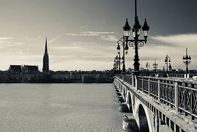 Pont De Pierre Bridge Across Garonne Poster by Panoramic Images