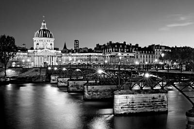 Poster featuring the photograph Pont Des Arts And Institut De France / Paris by Barry O Carroll