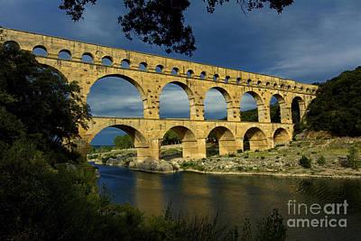 Pont Du Gard. France Poster by Bernard Jaubert