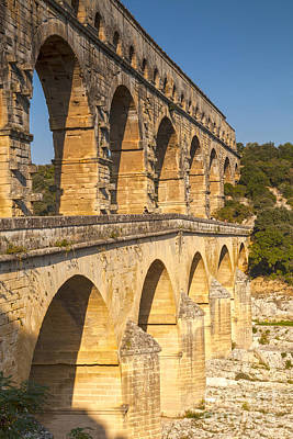 Pont Du Gard Roman Aquaduct Languedoc-roussillon France Poster by Colin and Linda McKie