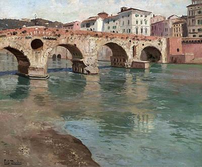 Ponte Pietra. Verona Poster
