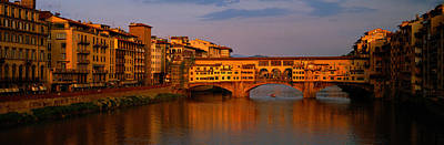 Ponte Vecchio Arno River Florence Italy Poster by Panoramic Images