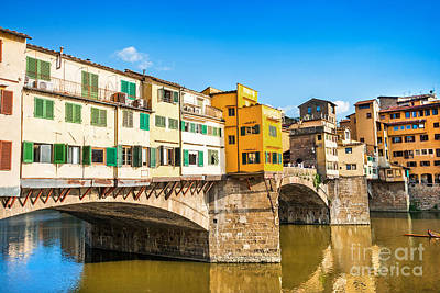 Ponte Vecchio At Sunset Poster