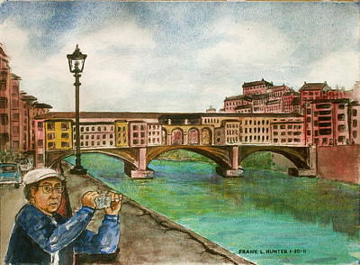 Ponte Vecchio Florence Italy Poster by Frank Hunter