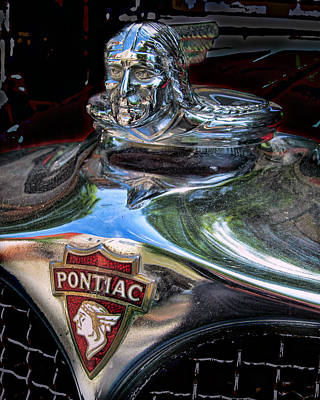 Pontiac Hood Ornament Poster by Victor Montgomery