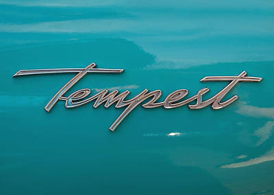 Pontiac Tempest Logo Poster by Charlette Miller