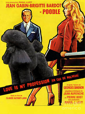 Poodle  Art - Love Is My Profession Poster