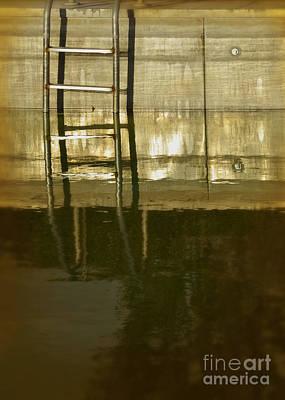Pool Ladder At Sunset Poster